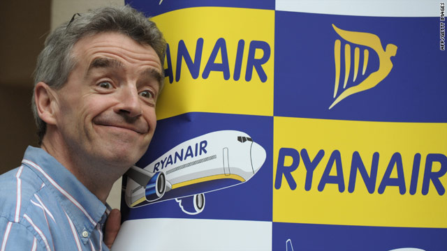 Ryanair CEO Michael O'Leary, pictured here in March, is known for his attention-getting ideas.