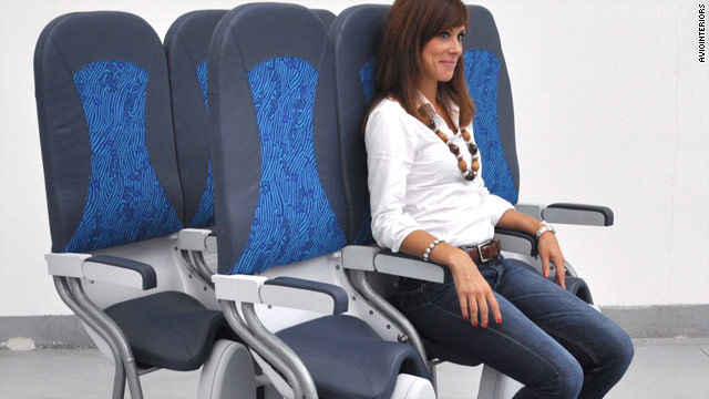 SkyRider seats would allow airlines to fit more passengers into cabins.