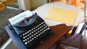 """Gone with the Wind"" author Margaret Mitchell's workspace has been recreated at the Margaret Mitchell House in Atlanta."