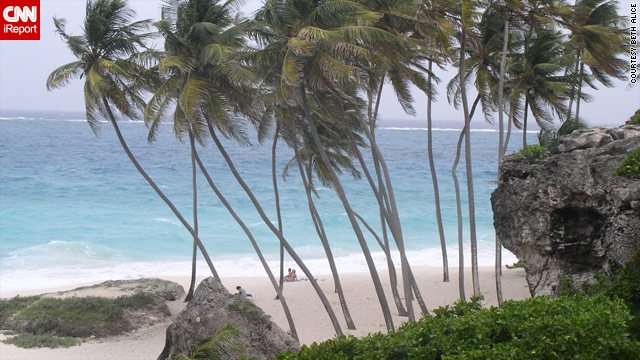 The beach at Bottom Bay in Barbados is not to be missed, according to iReporter Beth Alice.