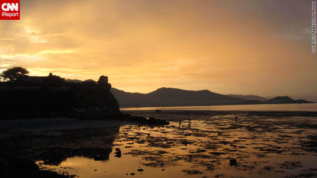 The sun sets at the Taytay Fort, or Fuerza de Santa Isabel, built in 1667 by the Spanish.