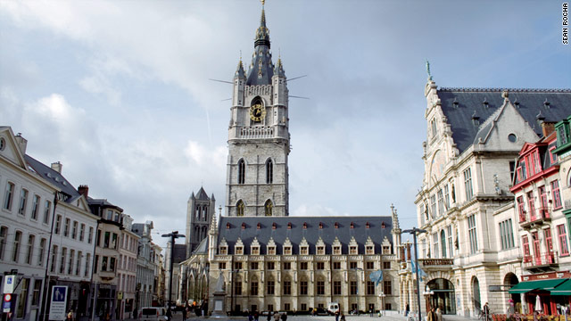 In Ghent, stylish new restaurants and boutiques line centuries-old cobblestoned streets.