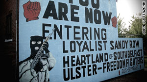 "Belfast is still painted with murals from the violent ""Troubles."""