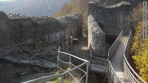 The ruins of Poienari Castle are just that -- ruins. This was Vlad Dracula's real home in the 1400s.
