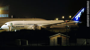 Boeing has nearly 900 orders for its 787 Dreamliner. Here, one sits last week at an airport north of Paris, France.