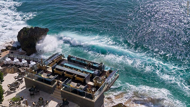 Just getting to Rock Bar at the Ayana Resort & Spa in Bali, Indonesia, is an event in itself.