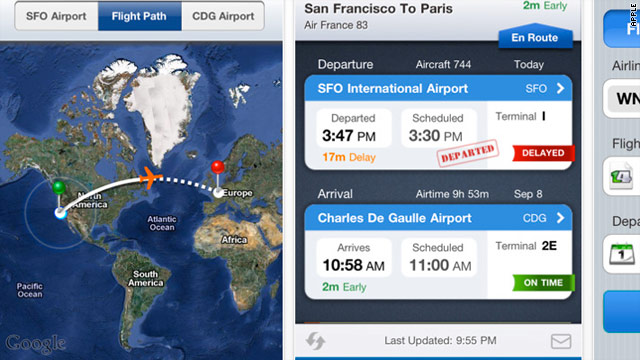 Flight Status gives you real-time updates about expected departure and arrival times.