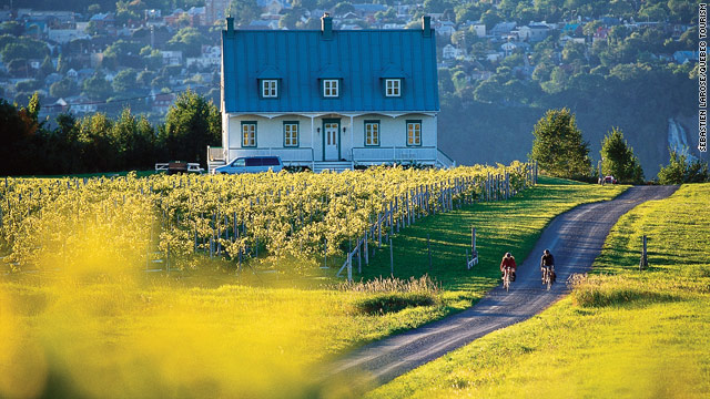 "Less than 20 minutes from Quebec City, Ile d'Orléans, known as the ""Garden of Quebec,"" is an agri-tourism haven."