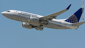 Immigration officals have custody of a man who disrupted a Continental Airlines flight Wednesday.