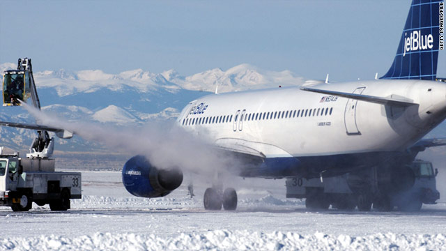 Accumulation of ice and snow on an airplane disrupts the airflow across its surface.