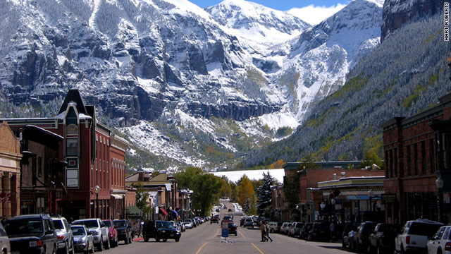 Telluride, Colorado is a beautiful Western town surrounded by 13,000-foot peaks and the state's tallest free-falling waterfall.