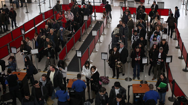 Storm warnings across the U.S. meaning travelers could face long lines and cancellations at airports.