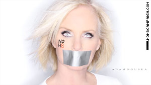 Cindy McCain posed for photos in support of a same-sex marriage campaign.
