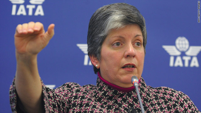 Homeland Security Secretary Janet Napolitano was in Europe last week conferring with counterparts about airline security.