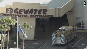 A car struck the front entrance of the Edgewater Casino in Laughlin, Nevada, on Wednesday.