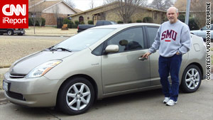 iReporter Vernon Crumrine loves the reliability of the Toyota Prius. He removed the floor mat and hasn't had any issues.