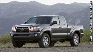 Toyota says 8,000 of its 2010 Tacoma pickups may have a faulty drive shaft.