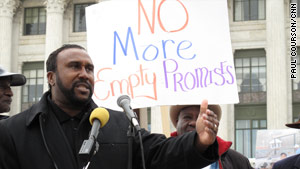 John Boyd, founder of the black farmers group, participates in a rally Monday outside the U.S. Department of Agriculture.
