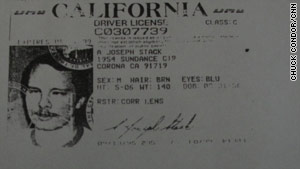 Joseph Andrew Stack's California driver's license showed him as a resident of Corona, California.