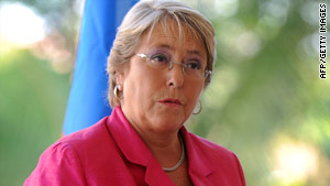 President Michelle Bachelet is the first woman to hold Chile's highest government office.