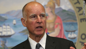California Attorney General Jerry Brown was governor of the state for two terms from 1975 to 1983.