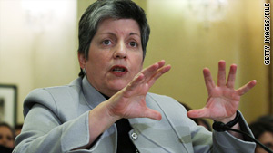 Janet Napolitano says she will spend stimulus funds on commercially available technology that will protect U.S. borders.
