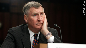 Retired Gen. John Sheehan addressed a Senate panel hearing on gays in the military Thursday.