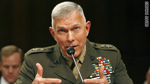 "Marine Commandant Gen. James Conway says, ""I would not ask our Marines to live with someone that's homosexual."""
