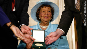 Civil rights activist Dorothy Height received the Congressional Gold Medal in 2004.