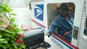 The fewest mail deliveries take place on Saturdays, a day when more than a third of U.S. businesses are closed.