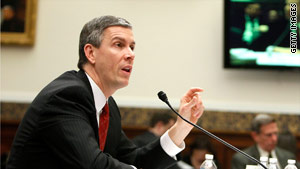 "Education Secretary Arne Duncan says two states will get education funds under the ""Race to the Top"" program."