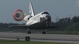 Space shuttle Discovery lands Tuesday at 9:08 a.m. ET at Kennedy Space Center in Florida.