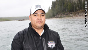 Ernest Penn, the tribe's fish and wildlife officer, moved his family away from the reservation because of the flooding.