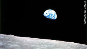 The Earthrise photo was taken by Apollo 8 astronauts as they returned from the moon in December 1968.