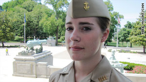 U.S. Naval Academy Midshipman Marquette Ried will train to be one of the first women to serve on submarines.