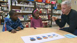 CNN's Anderson Cooper talks to two children about their skin color preferences.