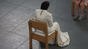 Almost every day for three months, Marina Abramovic sat on a wooden chair.