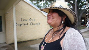Faith Gemmill, a Native American who saw the Exxon Valdez spill's effects, talked about dealing with spills in Louisiana.