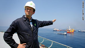 "BP CEO Tony Hayward apologized Wednesday for comments he made about wanting ""his life back."""