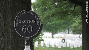 Arlington National Cemetery's Section 60 is for those soldiers who perished in Afghanistan and Iraq.