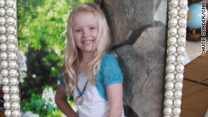 Services for Kylee Sullivan, 7, will be Tuesday morning. Sullivan was one of 19 killed by flash flooding on Friday.