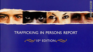 The report says the United States complies with a victims' protection act but still has forced labor and prostitution.