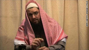 Adam Gadahn, seen in a 2008 video, appeared Sunday in a new video purportedly from al Qaeda.
