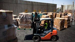 Goods and supplies are beginning to flow into Gaza now that Israel's blockade has been eased.