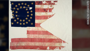 The swallow-tail flag of the Battle of Little Bighorn was sold to the Detroit Institute for the Arts in 1895 for $54.