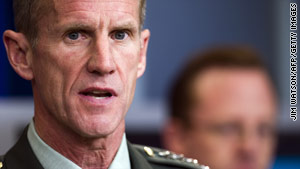 Gen. Stanley McChrystal resigned as commander in Afghanistan after the publication of a Rolling Stone article.