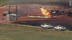 The blast took place in a rural area west of Pocasset, Oklahoma, on Tuesday, a fire official said.