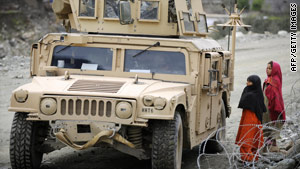 The senior U.S. commander in eastern Afghanistan has restricted the use of Humvee vehicles in the field.