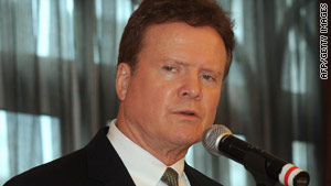 Sen. Jim Webb of Virgina wants an assessment of how vulnerable offshore oil rigs are to attack.