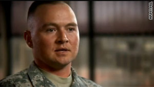 Spc. Joseph Sanders is featured in an Army suicide prevention video.